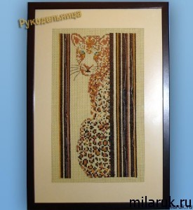 """""""Воспоминание о сафари"""" - картина вышитая крестиком - идея для подарка"""