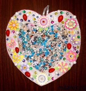 Панно-сердце - своими руками для укращения дома