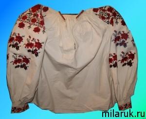 Старинная русская женская рубаха ручной работы