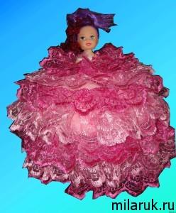 Кукла-шкатулка в розовом платье - яркая игрушка