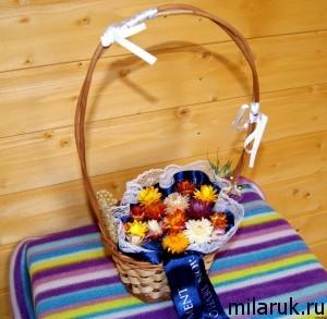 Сухоцветы в корзине - подарок на любой праздник