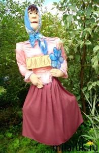 Чучело Моня - украшение огорода своими руками