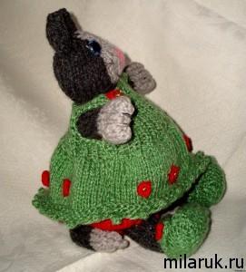 Мягкая игрушка кошка - подарок ручной работы для ребенка