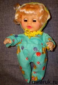 Пижама сшитая из байки для куклы