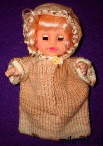 Вязаный конверт для куклы-пупса - авторская работа