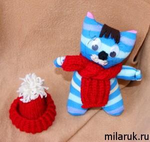 мягкая игрушка из носков своими руками - кот Матроскин
