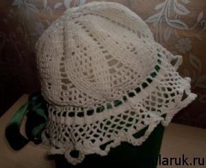 панамка, узор,вязание, рукоделие, авторская работа