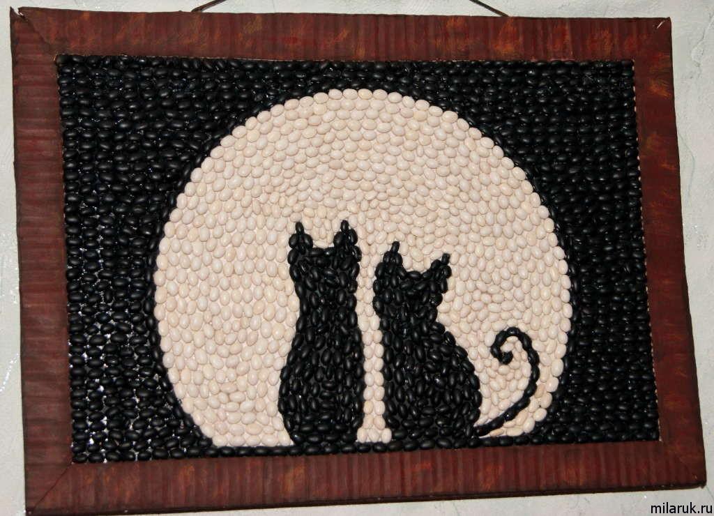 Картина с котами своими руками 22