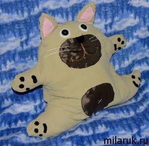 Мягкая игрушка,подушка-игрушка,декор,интерьер,кот,животные