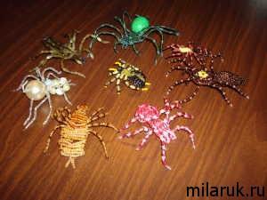 паук,бисер,идеи для рукоделия,ручная работа, своими руками.животные