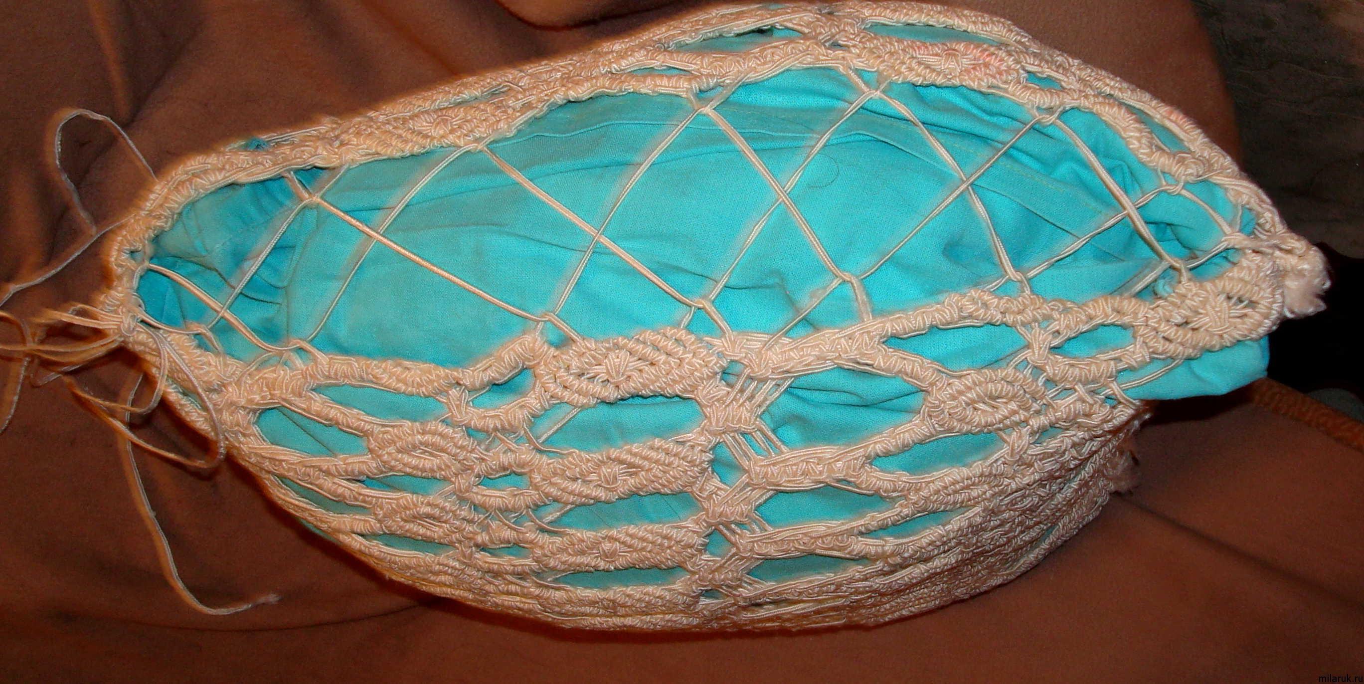 Как сделать плетеную подушку