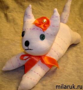 кот,игрушки из носков своими руками,животные,ручная работы,сувенир
