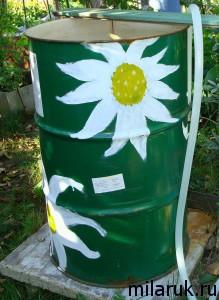 интерьер дачи,идеи для дачи своими руками,раскрашиваем бочки,сделай сам,декор для сада