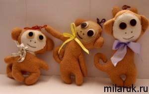 обезьяна,сделай сам,авторская ручная работа,идеи подарков своими руками,интерьер