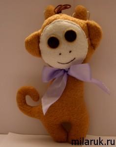 мягкая игрушка,обезьяна,подарки своими руками,сувенир,хобби