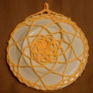 настенная тарелка, идеи рукоделия для дома, необычные подарки, вязание крючком,украшение стен