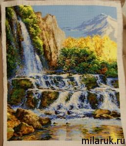 вышивание, картина,интерьер, своими руками,природа