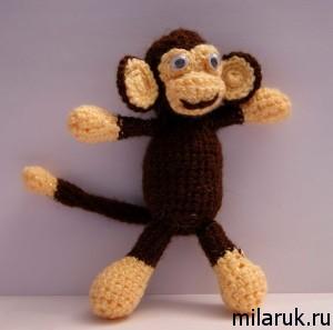 обезьяна,поделки,подарки детям,сувенир,своими руками