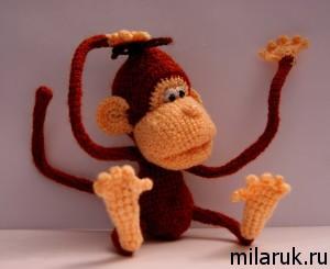 игрушка,сувенир,ручная авторская работа,обезьяна,рукоделие