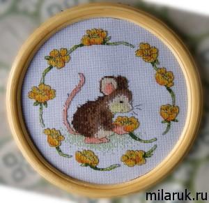 вышивание.картины,мыши,животные,своими руками