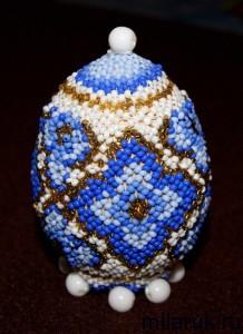 бисер,ручная авторская работа,оплетение яйца бисером,необычные подарки,своими руками