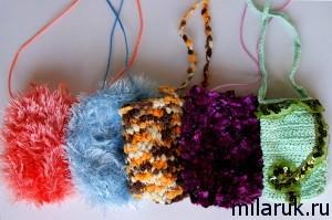 маленькие сумочки крючком,вязание,рукоделие,своими руками,сделай сам