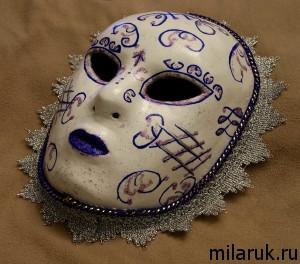 ручная авторская работа, маска,папье маше,сделай сам,поделки