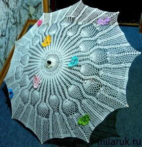 зонт,вязание крючком,своими руками,идеи для рукоделия,хобби