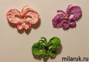 магниты,вязание,бабочки,сувенир,необычные подарки