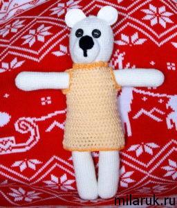 медведь, животные,мягкая игрушка,ручная работа,вязание крючком